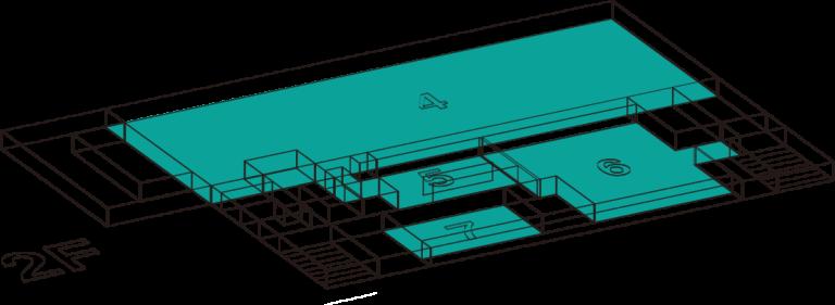 山梨地域交流センター2階フロア情報
